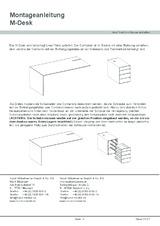 M-Desk Montageanleitung (DE)